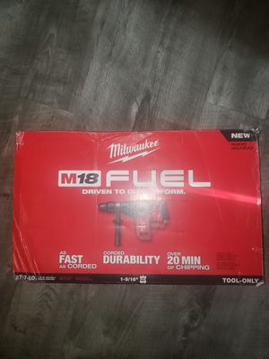 New Milwaukee Fuel M18 1-9/16 SDS Max Rotary Hammer Tool only for Sale in Auburn, WA