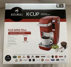 KEURIG K10 Mini Plus Coffee Maker - Red for Sale in Vienna, VA