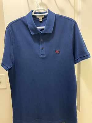 Medium Navy Blue Men's Burberry Polo Original Tags included for Sale in Buford, GA
