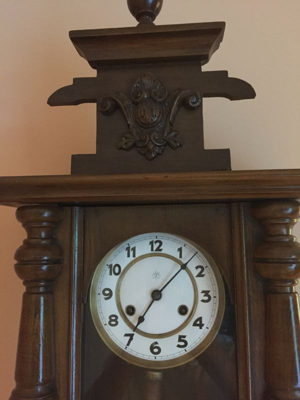 Antique Junghans wall clock in Good Running condition 31''x14''