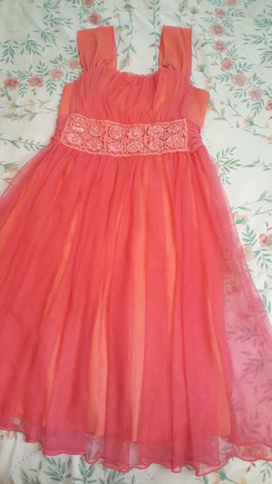 10/12 GIRLS DRESS CORAL!! GORGEOUS DRESS for Sale in Las Vegas, NV