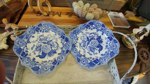 Two blue spode plates for Sale in North Fort Myers, FL