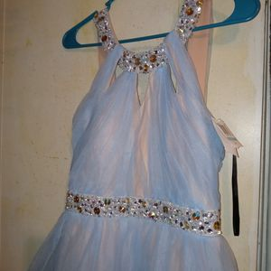 JODI KRISTOPHER| Blushy Nude and Muted Blue Dress for Sale in Cleveland, OH
