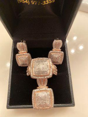 Set of ring,earrings & pendant diamond accent rose gold for Sale in Las Vegas, NV