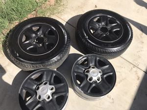 2 Tires and 4 Rims for a Toyota Tundra for Sale in Winchester, CA