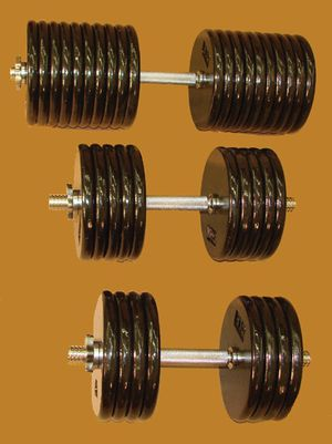 Custom adjustable dumbbells 5-200lbs in 2.5lb increments for Sale in St. Peters, MO