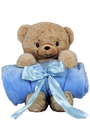 "Blankie's Stuffed Animal Blanket – Super Soft 37"" x 30"" Blue Baby Boy Blanket and Teddy Bear 2-in-1 Combo – Perfect Teddy Bear Blanket Baby Shower Gi for Sale in Brooklyn, NY"