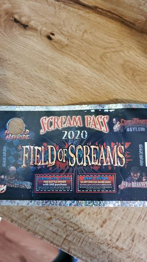Field of screams ticket for Sale in Lewisberry, PA