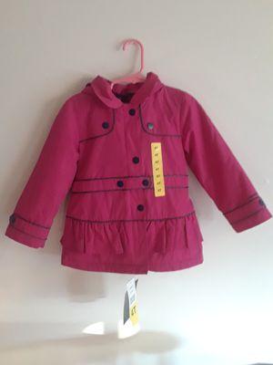 London Fog• Girls Hooded Fleece Lined Peacoat• Rain Jacket-Fuchsia (4T) for Sale in Milpitas, CA