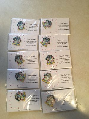 10 new Disney pins for $5.00 great for stocking stuffers for Sale in El Paso, TX