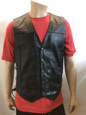 Black Genuine Leather Motorcycle Biker Vest for Men's for Sale in Woodbridge, VA
