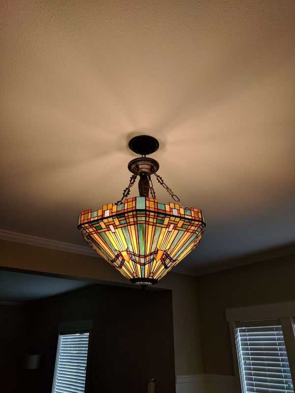 Stained Glass Dining Room Light Fixture