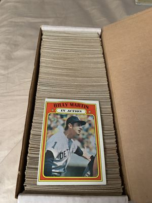 1972 Topps Baseball Cards Large Lot of over 500 Cards for Sale in Fullerton, CA