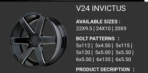 "24"" 24×10 6x139.7 Gloss Black Mill Wheels Rims Tires Available Chevy 1500 Tahoe Suburban LTZ GMC Yukon Sierra Saburban Denali Escalade ESV for Sale in Bellflower, CA"