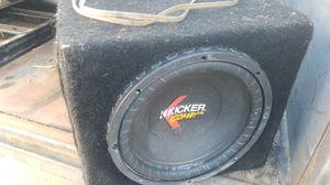 12 inch kicker comp cr 12 for Sale in Hemet, CA