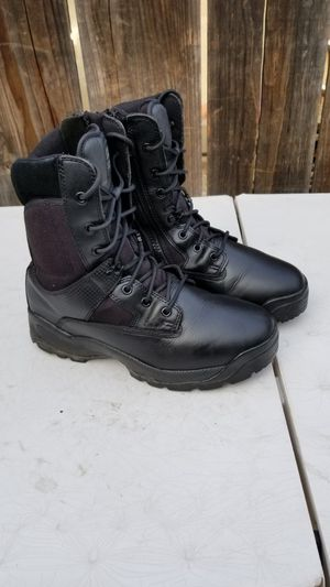5.11 work leather boots soft toe size 12 for Sale in Modesto, CA
