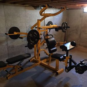 Powertec multigym leverage home gym weight set for Sale in Saint Charles, MO