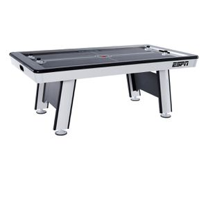 ESPN Premium 84 Inch Air Powered Hockey Table with LED Touch Screen Scorer, High Gloss Finish, UL Certified Fan Motor, 7 Ft., Black/Grey for Sale in Austin, TX