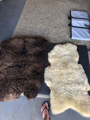 Genuine White and Brown Sheep Skins for Sale in Virginia Beach, VA