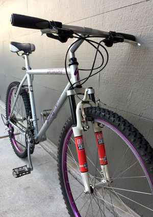 Vintage Specialized Stumpjumper MTB/Touring, Shimano Deore, Rock Shox Large Bike for Sale in San Carlos, CA