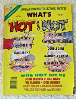 100 page Cracked Collector's Edition: What's Hot and Not July 1990 for Sale in University Place, WA
