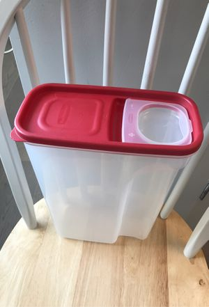 Rubbermaid, Modular Flip-Top Cereal and Food Storage Container, Red, 22 Cup for Sale in Jersey City, NJ