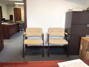 4 matching office chairs-free for Sale in St. Peters, MO