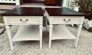 Pair of solid wood midcentury end tables nightstands for Sale in South Kensington, MD