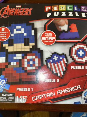 Avengers captain America 350 piece pixel puzzle for Sale in St. Louis, MO