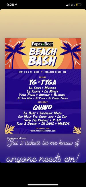 Papas and beers beach bash for Sale in Ontario, CA