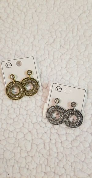 Bronze and silver earings for Sale in Perris, CA