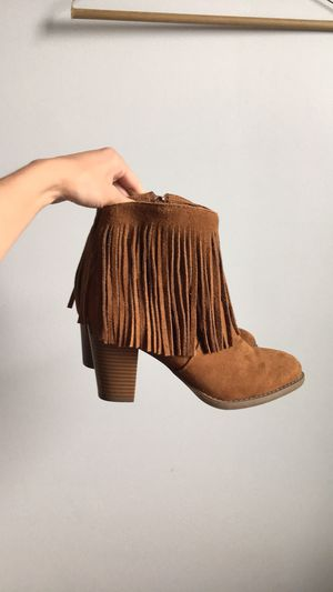 Fringe ankle boots for Sale in Stanwood, WA