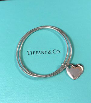 Tiffany & Co. Retired Triple Bangle with Heart Tag for Sale in Round Rock, TX