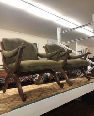 Vintage Upholstered Sofa Chair 2 available $295 Each Seattle for Sale in Seattle, WA