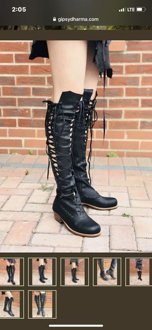 Gipsy dharma black knee high leather boots for Sale in Gresham, OR