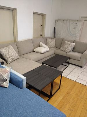 Ashley Sectional Couch with Chaise for Sale in Glendale, AZ