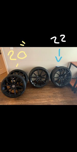 "NOT THE FULL SET SO ONLY 2 RIMS OF EACH SO THATS A (PAIR ) OF 20"" and 22"" going cheap I am moving for Sale in Norfolk, VA"