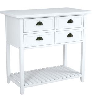Mecor Finish 2-Tier Console Sofa Entry Table with Shelf/Four Drawers for Sale in Alhambra, CA