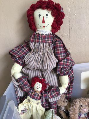 Home Made Raggedy Ann & Baby $10.00 for Sale for sale  Allentown, NJ