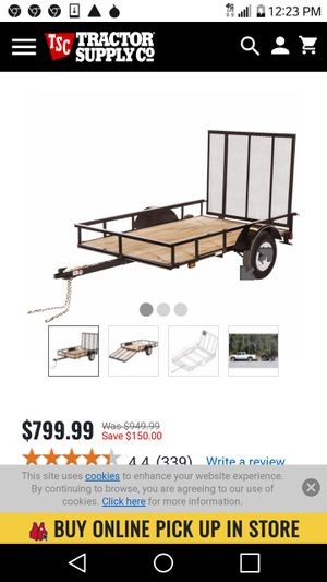5x8 cargo trailer and jack from tsc for Sale in Sultan, WA