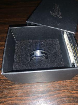 Tungsten, carbon fiber, diamond Ring for Sale in Goldsboro, PA