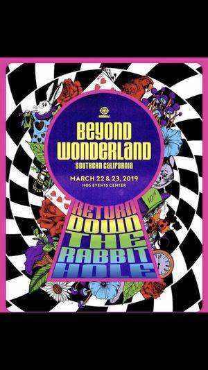 Selling 2 beyond Wonderland 2 day GA for Sale in Los Angeles, CA