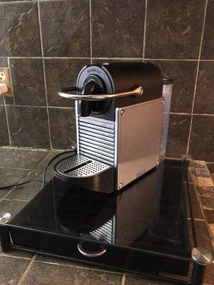 Nespresso Pixie Machine w/ Free Capsule Storage for Sale in Tampa, FL