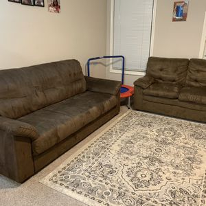 Sofa and Loveseat Set, Dark Brown for Sale in Atlanta, GA