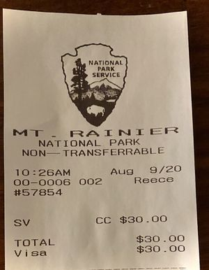 MT Rainier pass valid till 8/15 for Sale in Redmond, WA