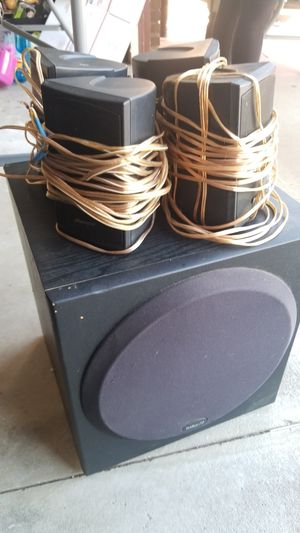 4 Pioneer Speakers and a Polk Audio Bass for Sale in Romoland, CA