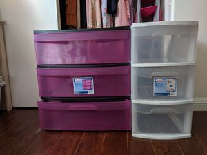 Plastic Drawers and Closet Storage for Sale in Irvine, CA
