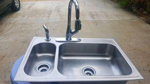 Stainless Steel Kitchen / Utility Sink excellent condition for Sale in Vero Beach, FL