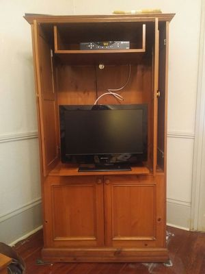 Solid Wood Entertainment Center for Sale in New Orleans, LA