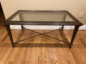 Glass and Metal Coffee Table for Sale in Vienna, VA